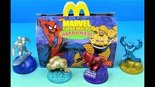 1998 Marvel Super Heroes Set of 4 Mcdonalds Happy Meal Kids toys Video Review (Australia)