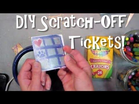 DIY scratch off tickets