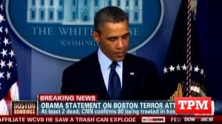 President Obama Responds To Boston Explosions