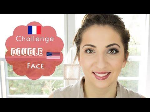 Makeup français vs américain / Double-Face | Challenge
