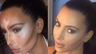 HOW TO CONTOUR AND HIGHLIGHT LIKE KIM KARDASHIAN thumbnail