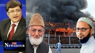Asaduddin Owaisi On BURNING Of Kashmir Schools: The Newshour Debate (7th Nov)