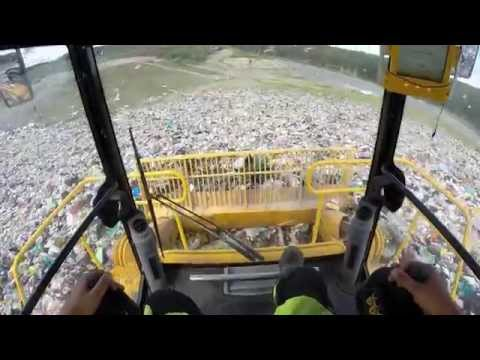 Operating TANA E320eco Landfill Compactor