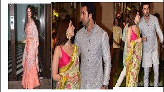 Alia Bhatt, Ranbir Kapoor and Katrina Kaif at Ganpati festival 2019