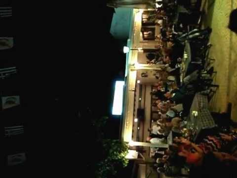 Cyprus Night in Pissouri - Glass balancing dance