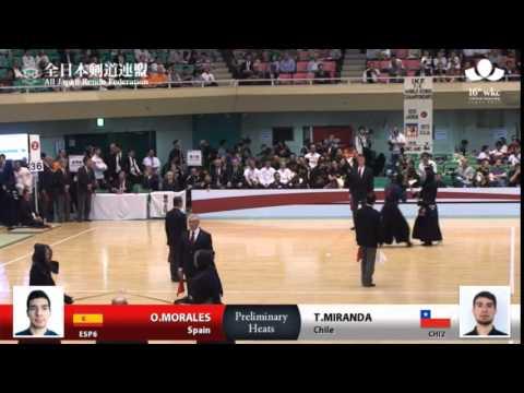 (ESP6)O.MORALES -eM T.MIRANDA(CHI2) - 16th World Kendo Championships - Men's Individual