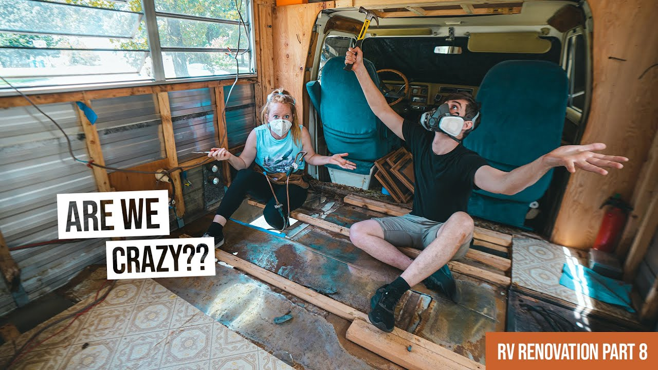 RV Renovation PART 8 - We Completely Rebuilt Our Floor! 😳 Longest Project Yet