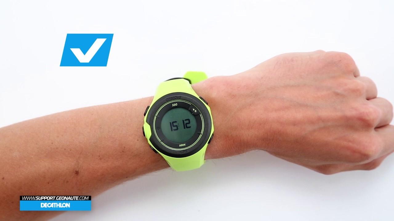 special for shoe great deals 2017 price reduced SAV DECATHLON FR - GPS ONMOVE 500 HRM - Comment bien positionner sa montre  sur son poignet ?