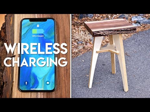 live-edge-end-table-with-wireless-charging-//-flat-pack-furniture-woodworking-project