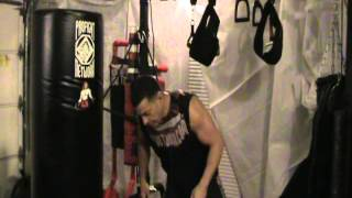 MMA cross punch demonstrated by Ultimate Cowboy Fighter's, Chris Greenman