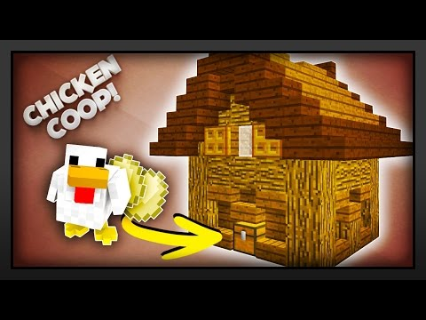 Minecraft - How to make a Working Chicken Coop