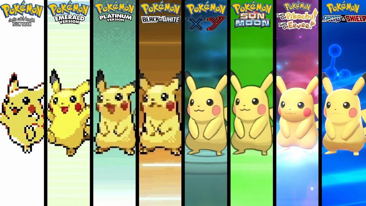 Download Evolution of Pokémon Evolution Animations (1996-2019)