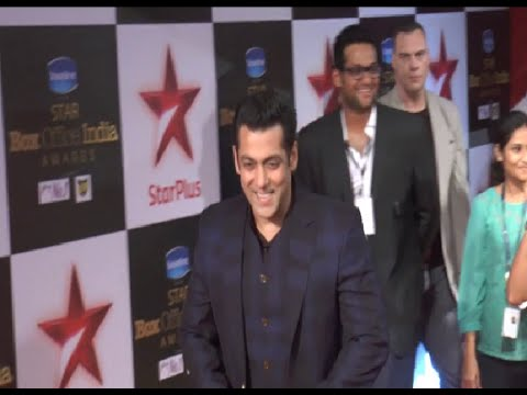 Salman Khan at the red carpet of Star Box Office India Awards 2014.