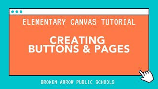 Elementary Canvas Tutorial: Editing Buttons & Pages