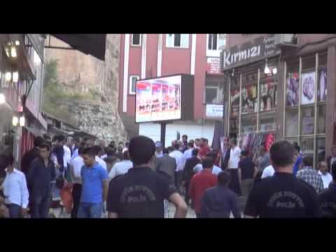 Bitlis'te BDP ülkü ocakları gerginliği...