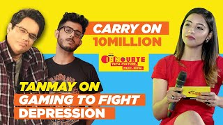 CarryMinati on 10 million & Tanmay Bhat on Gaming to fight Depression | Live Interview | Part 1