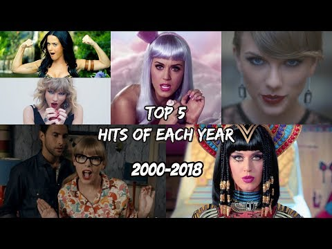 Top 5 Worldwide Hits of Each Year 2000  2018 Time Travel Through Music