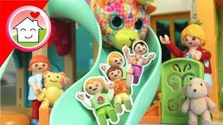 Playmobil Film Familie Hauser - Kuscheltiertag in der Kita - Geschichte für Kinder