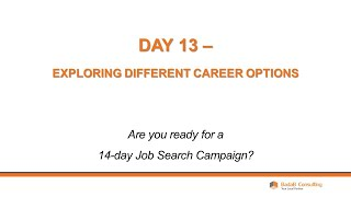 Day 13 - Exploring Different Career Options