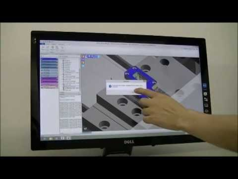 Edgecam workflow driven by touchscreen interface