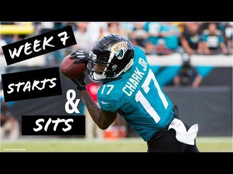 Fantasy Football Week 7: Starts & Sits RB/WR/QB/TE