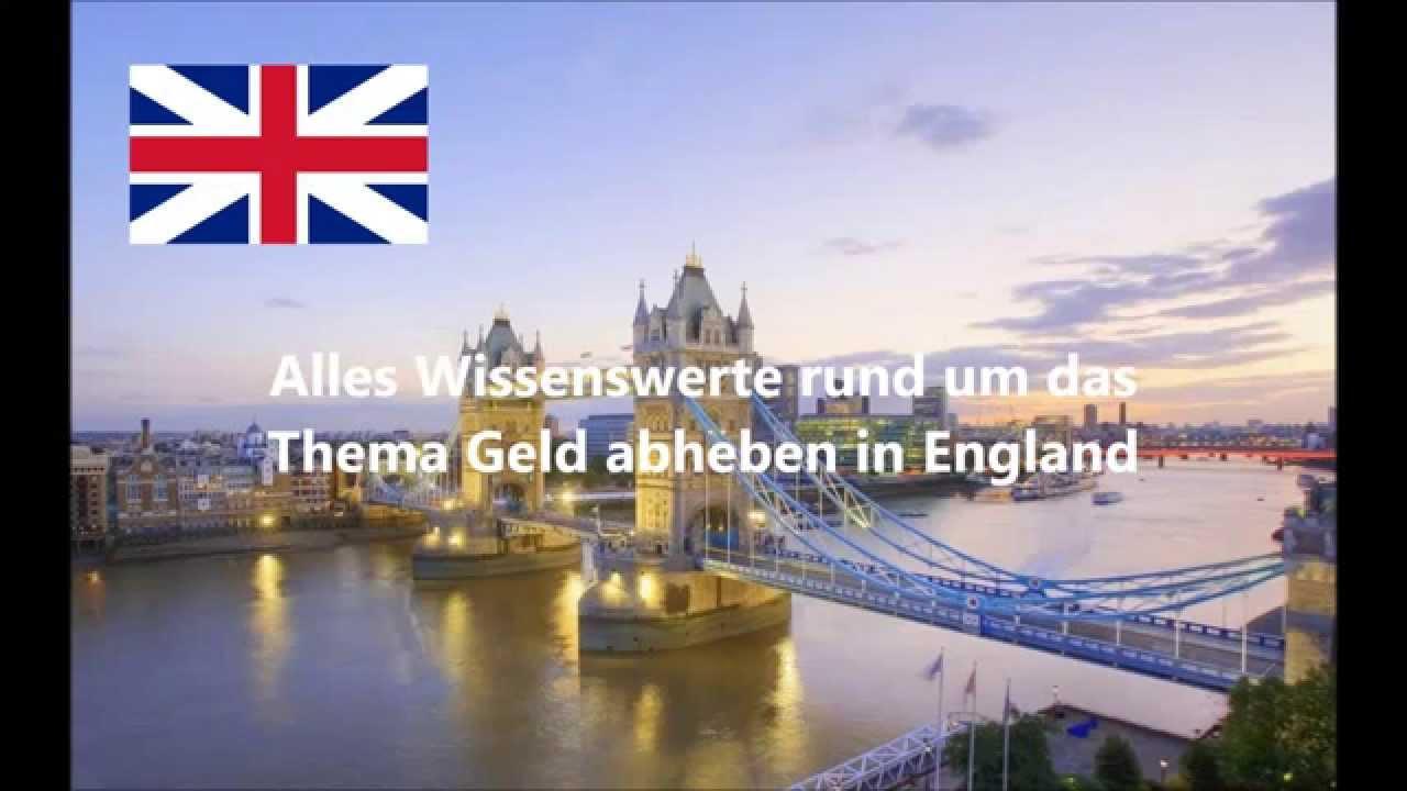 gebühren geld abheben england