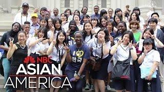 Harlem Students Meet Korean Students In Cross-Cultural Manhattan Scavenger Hunt   NBC Asian America