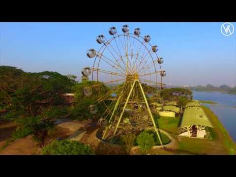 Inya Lake Yangon Myanmar Aerial (DJI Phantom 3 S)