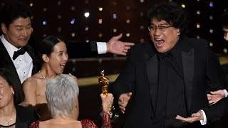 Parasite wins Oscar for Best Picture in Academy first as Bong Joon Ho scoops up three awards