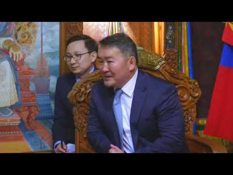 Mongolia's President meets Indian foreign minister to boost bilateral ties