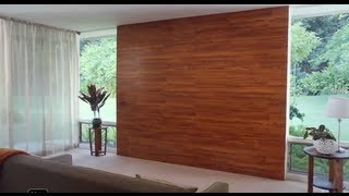 Decora una pared con piso laminado