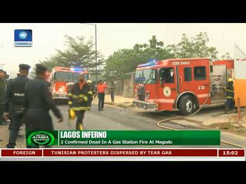 Lagos Inferno: 2 Confirmed Dead In A Gas Station Fire At Magodo