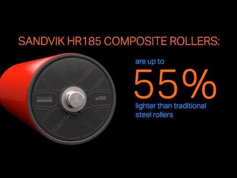 Sandvik HR185 composite rollers