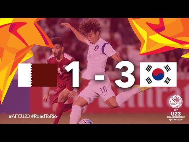 Video: U23 Qatar vs U23 Hàn Quốc