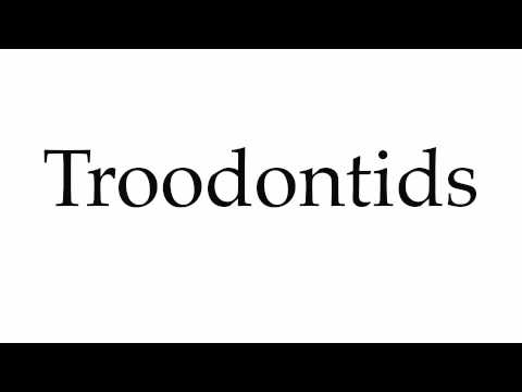 How to Pronounce Troodontids