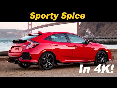 2017 Honda Civic Sport Hatchback Review and Road Test Detailed in 4K UHD