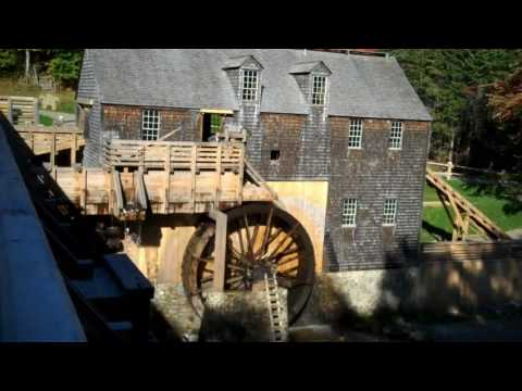 Water Powered Sawmill with Wooden Gears at Kings Landing