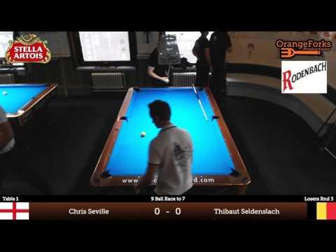 Chris Seville v Thibaut Seldenslach | Losers Round 3 of Stella Artois International 9-ball Open 2015