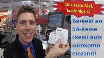 Number26-DOKU: Bargeld an SB-Kasse (Real-Markt) auf Girokonto eingezahlt :)
