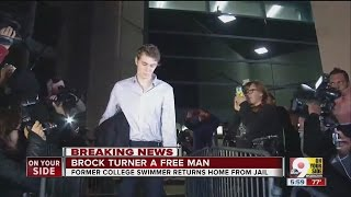 Brock Turner returns home from jail