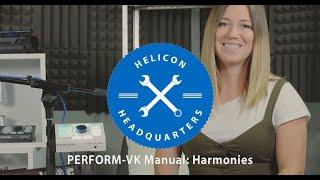 PERFORM-VK Manual E4: Harmonies