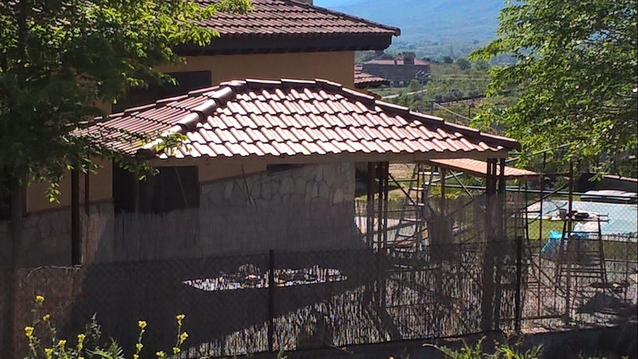 Tejado antes toldo ahora teja pl tica ligera roofy youtube for Plastico para tejados