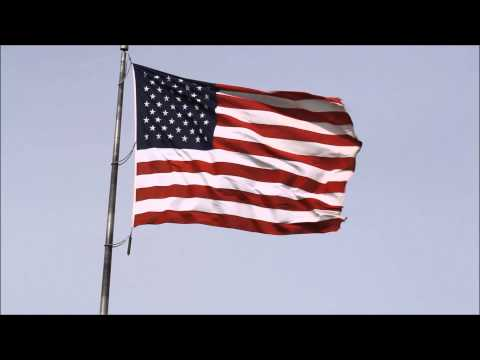 National flag and Anthem of the United States of America