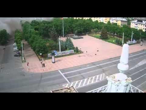 Lugansk Administration Building Hit