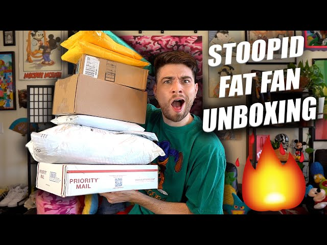 STOOPID HUGE SURPRISE FAN UNBOXING! Y'all blessed me!!