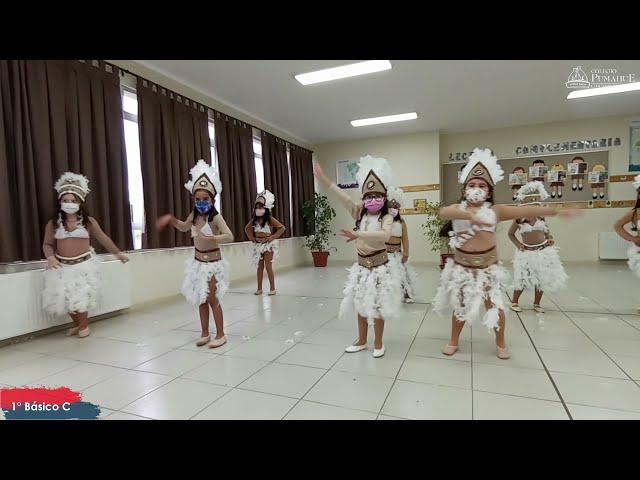 1°C de Pumahue Chicauma realiza su  baile en el mes de la patria, representando  a Rapa Nui
