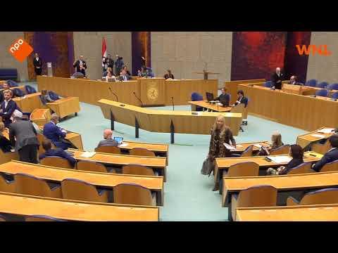 Schreeuwende man op tribune Tweede Kamer, vergadering onderbroken
