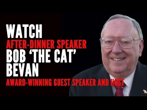 Bob 'The Cat' Bevan MBE - Award-Winning After-Dinner Speaker