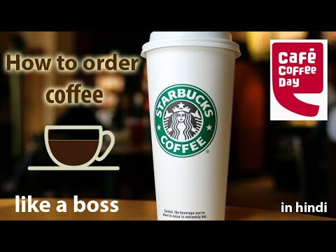 How to order coffee at Starbucks /CCD | Coffee types explained