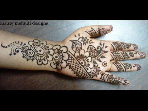 beautiful mehndi design for hands-how to do stylish henna design